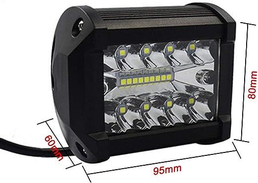 Phare de travail LED 60 W triple rang/ée de projecteurs LED Combo Cube de conduite antibrouillard pour pick-up SUV ATV bateau marine UTV camions