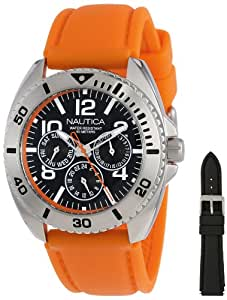 Nautica Men's N11606G Sport Ring Box Set Classic Multi-Function Sport Watch