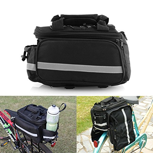Saddle Expandable Bag (AoOnZan Expandable Cycling Bicycle Bike Rear Seat Trunk Bag Handbag Panniers Outdoor Traveling Biking Storage with Rainproof Cover)