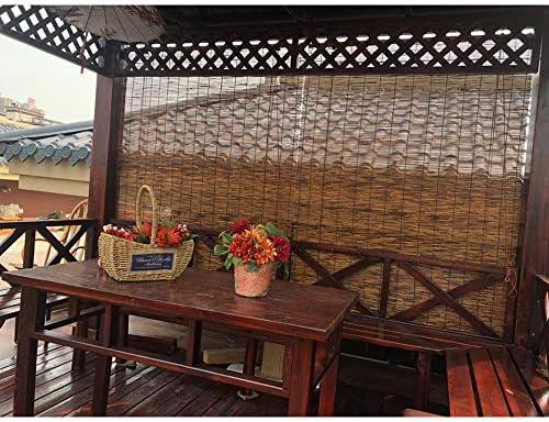 Persianas de madera natural, persianas enrollables de bambú para ventanas, cortinas a prueba de polvo para interiores y exteriores, parasol/aislamiento térmico, fácil de instalar, 135 x 230 cm: Amazon.es: Hogar