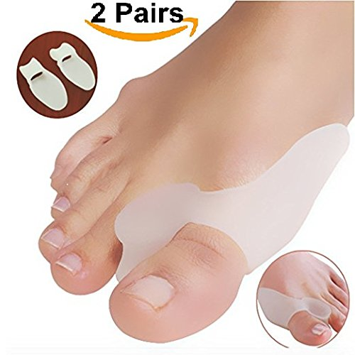 DUORUI 2 Pairs Gel Big Toe Bunion Guards & Toe Spreaders - (for Pain Relief from Crooked Toes, Pressure, and Hallux ()