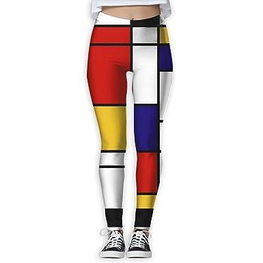 Amazon.com: cawhjdw Mondrian estilo para mujer Cintura Alta ...