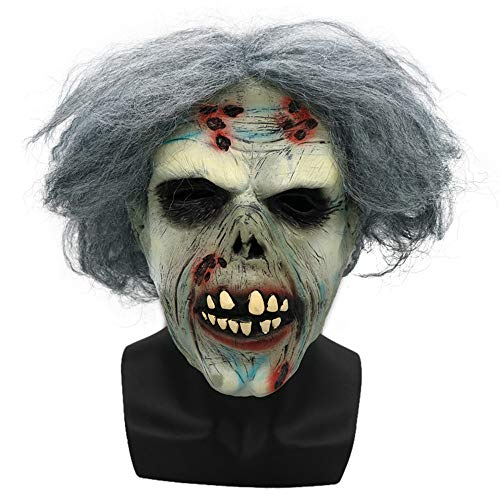 Cywulin Halloween Head Latex Mask Party Scary Props Mask Cosplay Horror Grimace Costume Mask for Men Women Decoration Props (H) ()