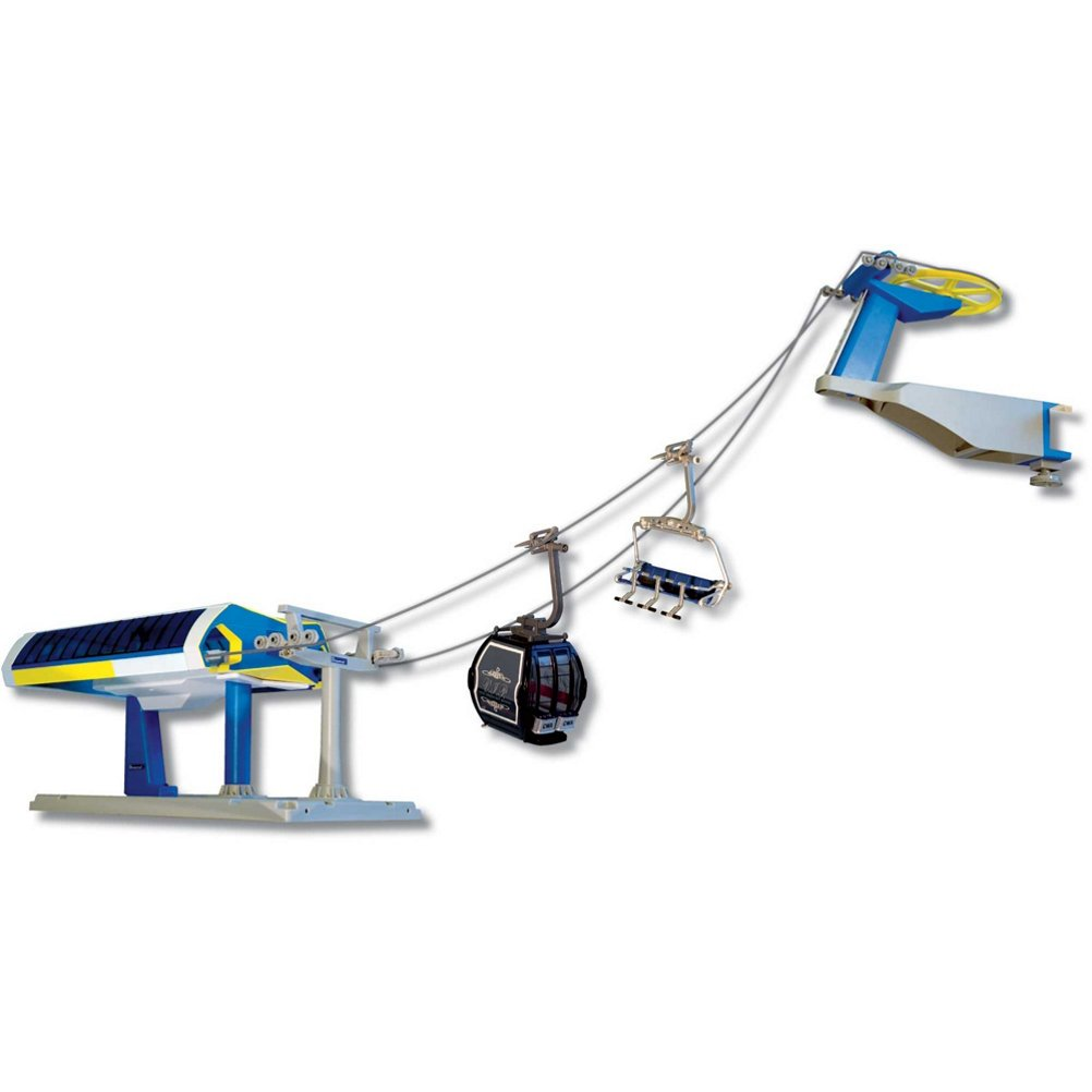 model ski lifts six seater one gondola set 2016 orange blue