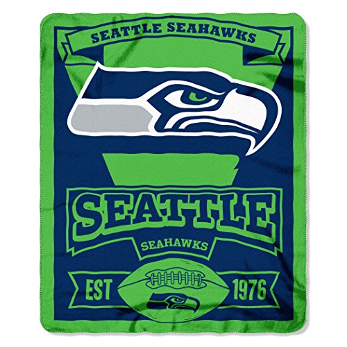 The Northwest Company Nfl Seattle Seahawks Marque Printed Fleece Throw  50 Inch By 60 Inch