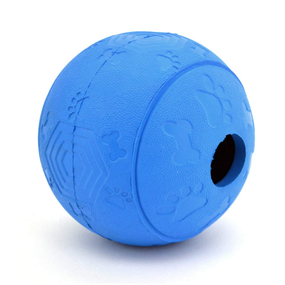 bluee (Large) Pet Rubber Chew Toy Dispensing Ball