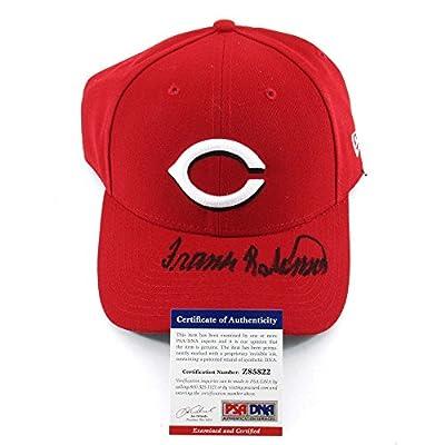 Frank Robinson Autographed Autographed Signature New Era 9Forty Cincinnati Reds Baseball Hat PSA/DNA Auto