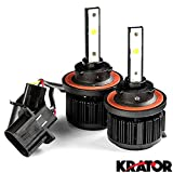 Krator LED H13 Headlight Conversion Bulbs 40W 4000LM Light Bulbs 9008 Hi/Lo 6000K White with Built-In Turbo Cooling Fan for 2008-2010 Dodge Grand Caravan