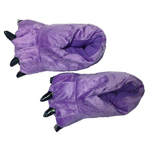 Honeystore Unisex Bequem Plüsch Hausschuhe Tier Kostüm Klaue Schuhe Violett