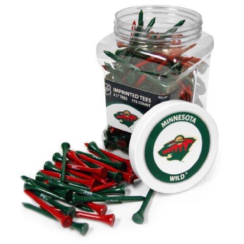 NHL Minnesota Wild Jar Of 175 Golf Tees   B0153XJ3DI