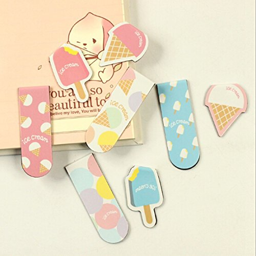 bookmark-ice-cream-magnet-paper-clip-cute-school-supplies-item-creative-gift-for-kids-chidren