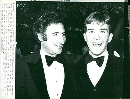 (Vintage photo of Telephone by Judd Hirsch, actor with colleague Timothy Hutton)