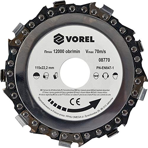 Vorel 08770 –  115 mm de disque de chaî ne Yato