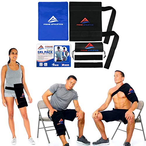 """Ice Pack for Injuries Reusable - Back Knee Shoulder Hip Recovery Physical Therapy Large Hot Cold Flexible Gel Pack & Wrap for Swelling Sprain Muscle & Joint Pain Relief 