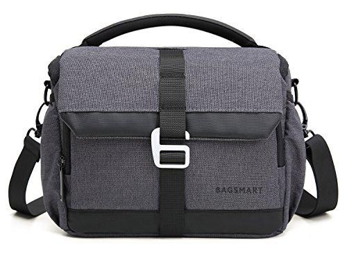 BAGSMART DSLR/SLR Camera Shoulder Bag Compact Gadget Bag wit