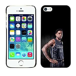 TaiTech / Prima Delgada SLIM Casa Carcasa Funda Case Bandera Cover Armor Shell PC / Aliminium - Miami 40 Baloncesto - iPhone 5 / 5S
