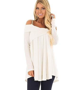 buy online e0271 0b0fc Maglione Donna Lungo Maglioni Senza Spalline Lunghi Pullover ...