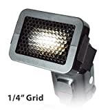Julius Studio Photography Studio Video 1/4'' Honeycomb Quick Grid Flash Attachment Accessory for Lighting Effects JSAG144