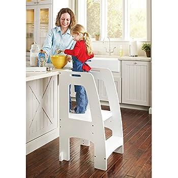 Amazon Com Guidecraft Step Up Kitchen Helper White