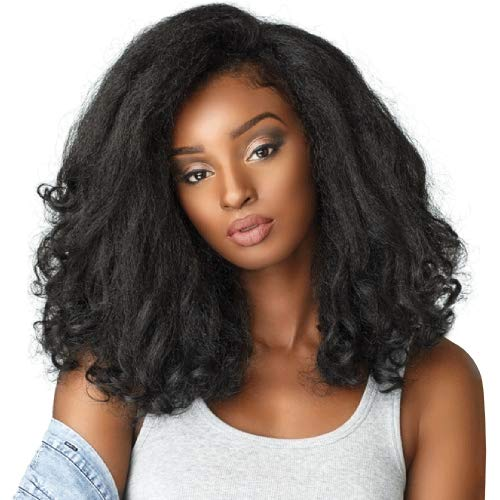 (Sensationnel Curls Kinks & CO All Curl Types From 3B-4C Instant Weave 1/2 Half Wig - IW RAIN MAKER (F1B/30 [Off Black & Light Auburn]))
