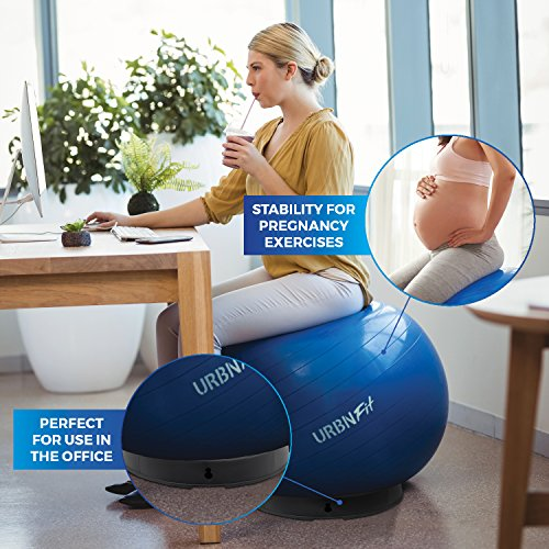 URBNFit Exercise Ball Base - 4 Piece - Balance Ball Stand for Workouts or Use As an Office Chair at Your Desk - Create a Pregnancy Seat for Birthing Exercises, Yoga, Pilates (4 Piece) by URBNFit (Image #5)