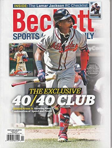 NOV 2019 Beckett Sports Card Price Guide Magazine Vol 36 No 11 Ronald Acuna
