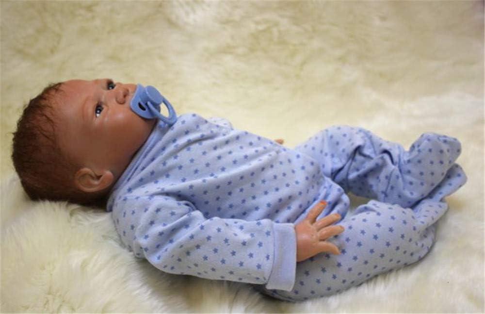 ZIYIUI Realistische Puppe Reborn Babypuppen Silikon Junge Reborn Babys Dolls Neugeborenes 20 Zoll Kinder