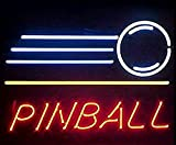Cozyle Glass Bright Neon Light Pinball Neon Sign 17''x14'' Real for Pinball Game Room Pub Beer Bar