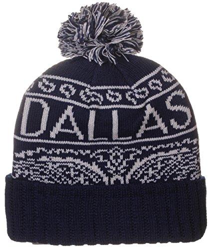 Skull With Cowboy Hat (American Cities Dallas Texas Bandana Style Pom Pom Knit Hat Cap Beanie)