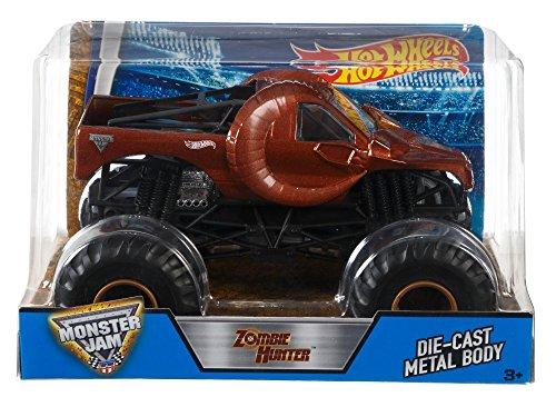 Hot Wheels DHY71 Monster Jam Zombie Hunter Ram Truck, 1:24 ()