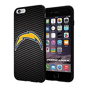 "American Football NFL SAN DIEGO CHARGERS Logo,Cool iPhone 6 Plus (6+ , 5.5"") Smartphone Case Cover Collector iphone TPU Rubber Case Black by mcsharks"