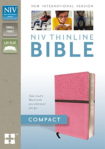 NIV, Thinline Bible, Compact, Imitation Leather, Pink, Red Letter Edition