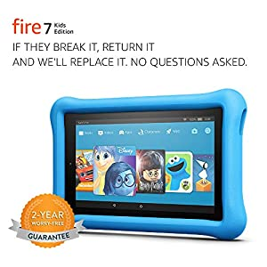 Fire 7 Kids Edition Tablet, 7″ Display, 16 GB, Blue Kid-Proof Case – (Previous Generation – 7th)