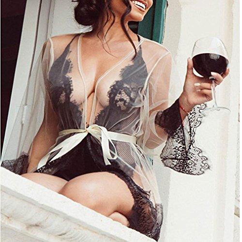 YaidaHot Sexy Underwear Costumes Sleepwear Erotic Lingerie Porn Disfraces (M, White)