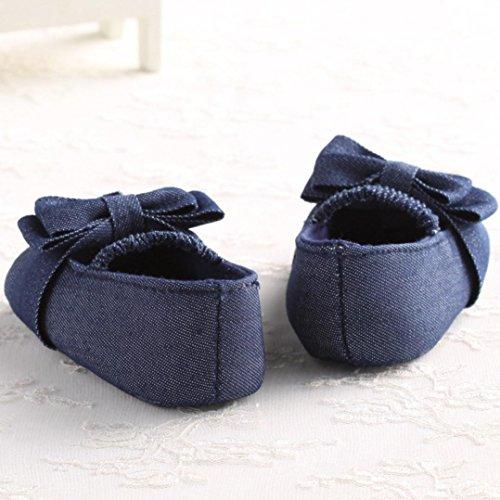 Fulltime® Bébé bowknot Denim Toddler First Walkers Chaussures