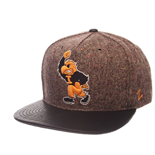 Zephyr NCAA Iowa Hawkeyes Men's Legend Heritage Collection Hat, Adjustable, Tweed