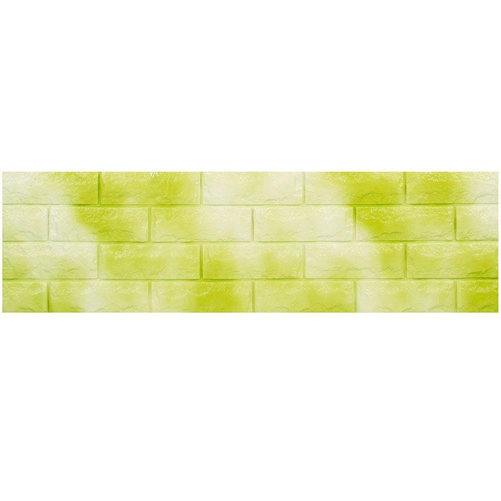 レンガ 壁紙 シール 【壁紙シール3枚セット】 壁用レンガシール [グリーン:(fb-005)] 30cm×100cm アクセントクロス ウォールステッカー おしゃれ DIY レンガ シート B01E6PSVKU お得3枚セット|グリーン:(fb-005) グリーン:(fb-005) お得3枚セット