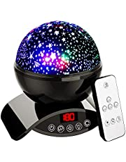 Night Light Projector, Elecstars Remote Control Night Lamp, 360 Degre Rotating Star Projector with Timer Auto-Shut Off for Bedroom, Best Gift for Men Women Teens Kids and Friend (Black)