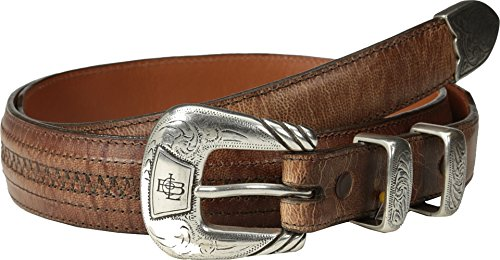 Lucchese Men's Mad Dog Goat With Hobby Stitch Belt Tan (Mad Dog Goat)