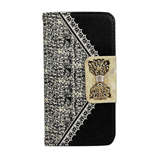 Price comparison product image iPhone 7 Case, [4.7 inch]LUNIWEI Bow-knot Fresh Cute Flip Wallet Leather Case Cover