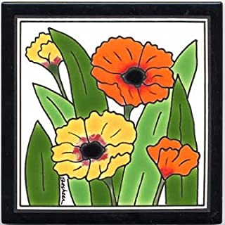 product image for Poppies Tile, Poppies Wall Plaque, Poppies Trivet