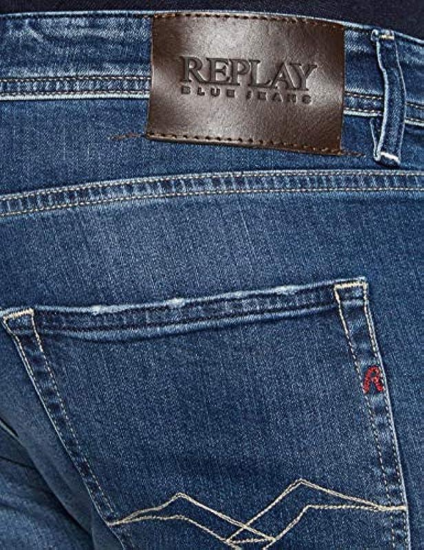 Replay Grover dżinsy męskie - 34W / 32L: Odzież