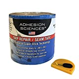 Adhesion Sciences High Strength Tarp/Seal Repair Patch Water Proof Super Stick Tape 4'' x 50' Tape bonus Cutter Included