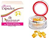 Rose Capsules with Pure Natural Essential Oil from Bulgarian Rosa Damascena - 15 mg, Luxury product for Youth and Beauty, enhances metabolism and bowel movement, improves body odor, stimulates libido