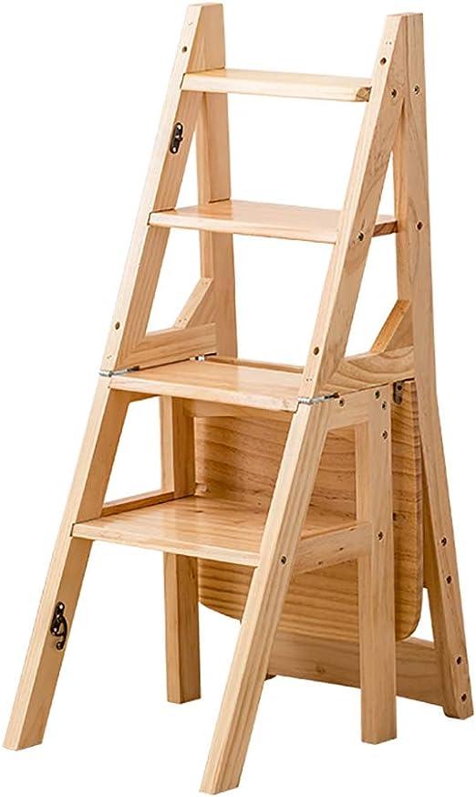 LLTD Taburete de Madera Escalera de Madera de 4 peldaños Soporte de Flores Escalera Plegable Multifuncional de Interior Hogar Asciende la pequeña Escalera (Color : C): Amazon.es: Hogar