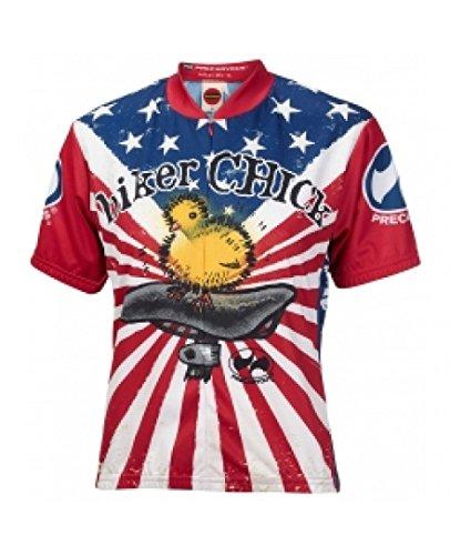 World Jerseys American Biker Chick Cycling Jersey (Medium)
