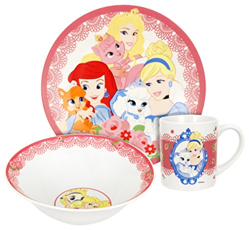 Disney Palace Pets Dinnerware Set, Multicolor, - Dinnerware Disney Set Princess