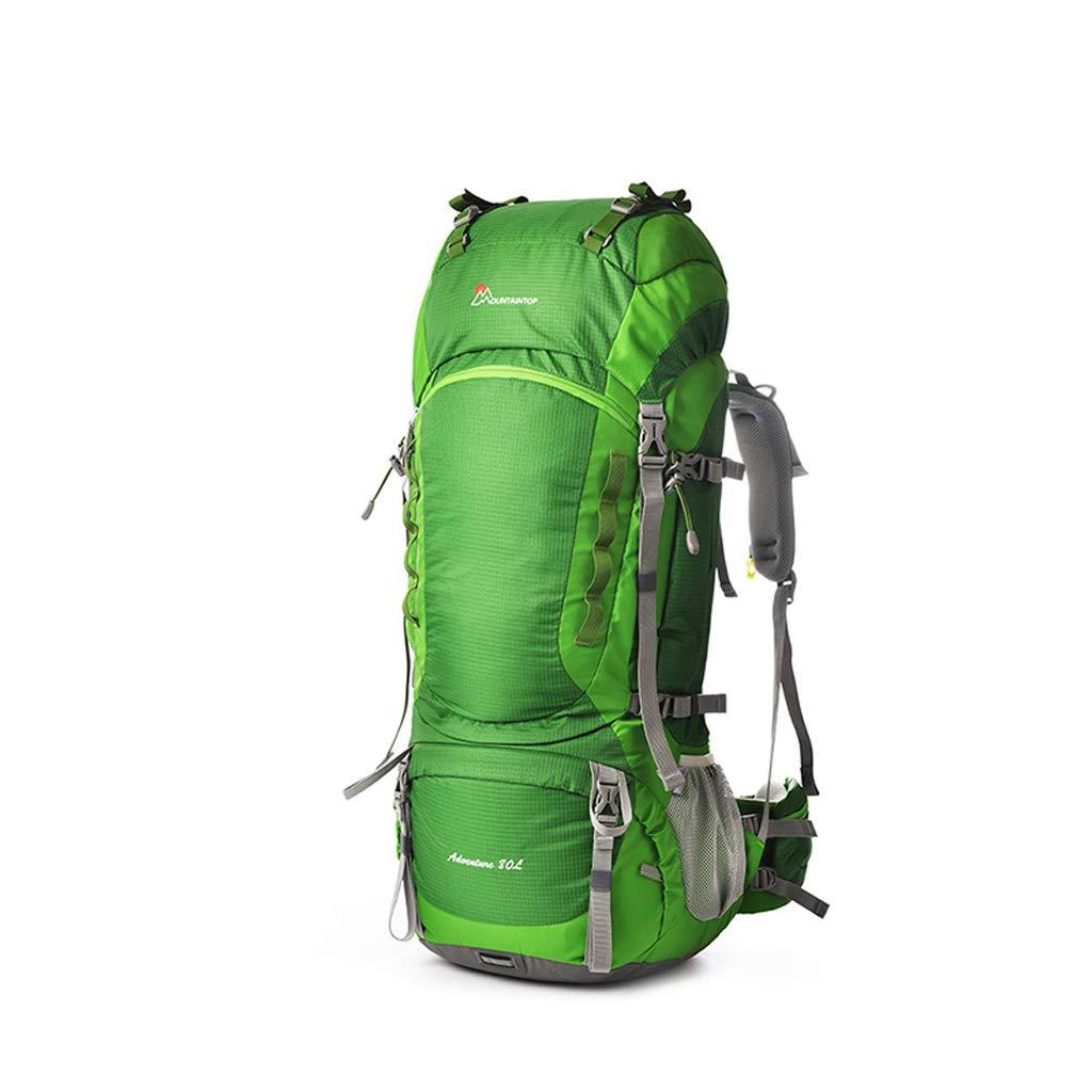 屋外バックパック アウトドアハイキングバッグ大容量重負荷登山バッグ肩男女キャンプリュックサック80 L HBJP (色 : 緑) B07RSVW945 緑