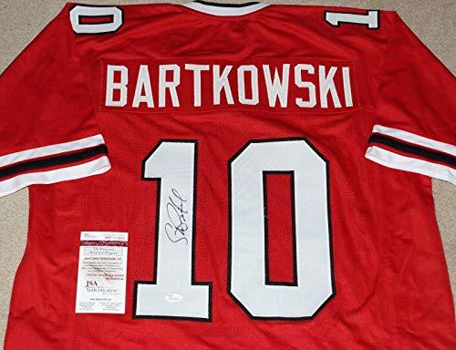Autographed Steve Bartkowski Jersey - Red Throwback + COA WP700802 - JSA Certified - Autographed NFL Jerseys