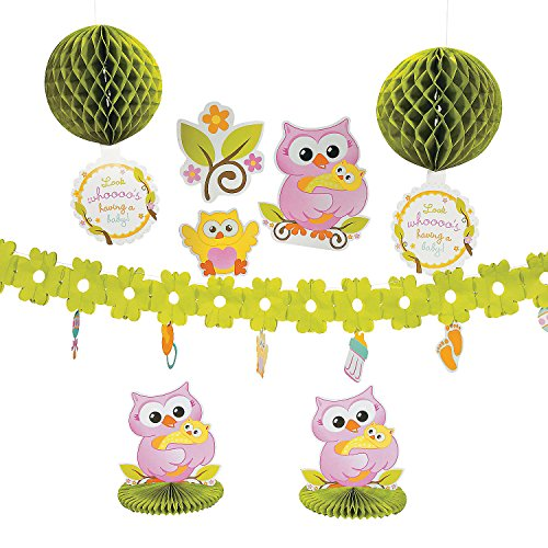 Owl Baby Shower Decorating -